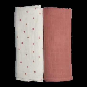 Fabelab Tetradoek -  Hydrofiele doek 2 stuks Wild Berry  120 x 120 cm