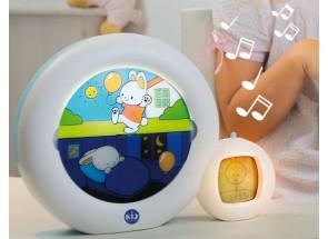 KidSleep Moon Wit/Blauw Slaaptrainer en Kinderwekker 0014