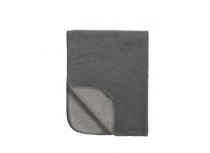 Meyco katoenen deken TOG 1.2 Double Face Grijs - Antraciet 100x150 cm