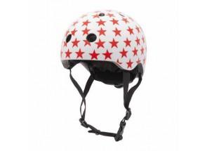 Coconut Fietshelm White Red Stars XS