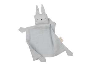 Fabelab Knuffeldoekje Konijn Ijzig Grijs - Rabbit Ice Grey
