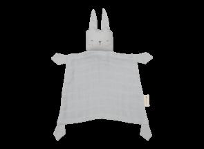 Fabelab Knuffeldoekje Konijn Ijsgrijs - Rabbit Ice Grey