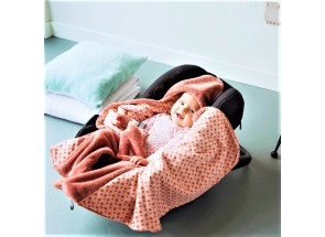Snoozebaby Wikkeldeken Dusty Rose