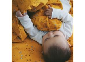 Filibabba dekbedovertrek + kussensloop Stars Golden mustard 100 x 140 cm