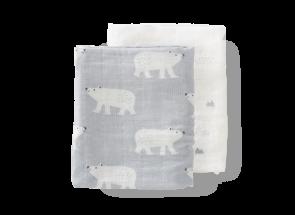Fresk Swaddle - Hydrofiel set 2 st. 70x60 cm Polar bear