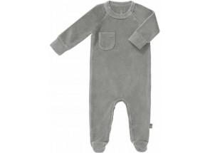 Fresk pyjama met voet Paloma Grey 0-3 m