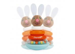 Janod stapelringen houten konijn