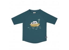 LÄSSIG t-shirt korte mouw boot/blauw 12 m, 74-80 cm