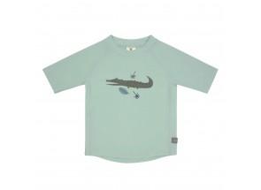 LÄSSIG t-shirt korte mouw krokodil/mint 12 m, 74/80 cm