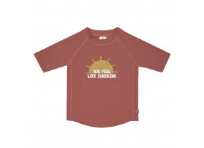LÄSSIG t-shirt korte mouw zon/rosewood 12 m, 74-80 cm