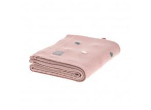 """LÄSSIG wiegdeken - babydeken """"Dots"""" dusky pink 80 x 110 cm"""