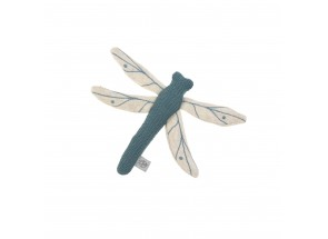 LÄSSIG Libel Knitted Toy with rattle/crackle Garden Explorer Dragonfly blue