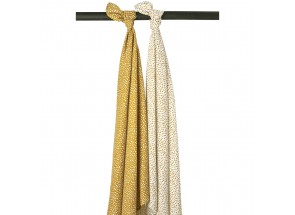 Meyco Hydrofiel Cheetah honey gold set 2 stuks 120 x 120 cm