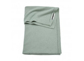 Meyco babydeken-wiegdeken Knit basic Stone Green 75x100 cm