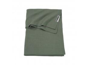 Meyco babydeken-wiegdeken Knit basic Forest Green 75x100 cm