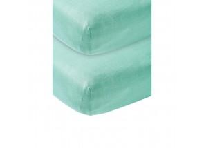 Meyco Jersey Hoeslaken new mint 2 st  60x120 cm