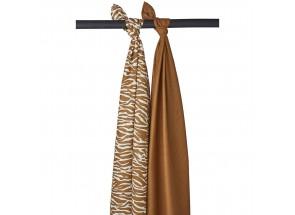 Meyco Zebra uni camel set 2 stuks 120 x 120 cm