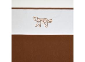 Meyco Katoenen laken Cheetah Animal Camel 75x100 cm