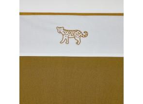 Meyco Katoenen laken Cheetah Animal Honey Gold 75x100 cm
