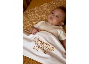 . Meyco Katoenen laken Cheetah Animal Honey Gold 75x100 cm