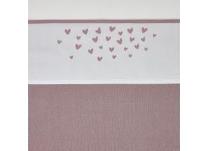 Meyco Katoenen laken Hearts - Hartjes Lilac 75x100 cm