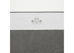 Meyco Katoenen laken Swan - Zwaan Grijs 75x100 cm