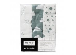 Meyco Hydrofiel Dots set 3 stuks 70 x 70 cm