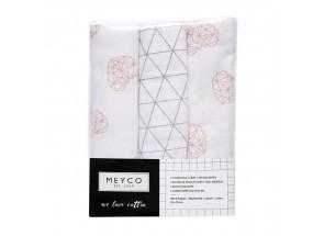 Meyco Hydrofiel geo-hart-driehoek set 3 stuks 70 x 70 cm