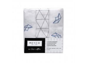 Meyco Hydrofiel Monddoekje boot-driehoek set 3 stuks 30 x 30 cm