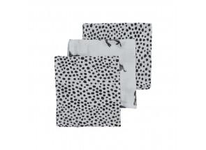 Meyco Hydrofiel Zebra animal cheetah zwart set 3 stuks 70 x 70 cm