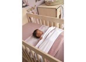 Meyco babydeken-wiegdeken TOG 1.8 knit lilac 75x100 cm met velvet