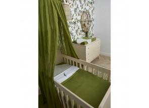 . Meyco babydeken-wiegdeken TOG 1.8 knit avocado 75x100 cm met velvet