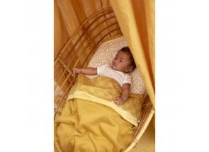 Meyco babydeken-wiegdeken TOG 1.8 knit honey gold 75x100 cm met velvet