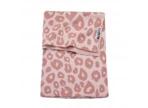 Meyco babydeken - wiegdeken Panter Pink 75x100 cm