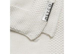 Meyco wiegdeken Knots 75x100 cm offwhite