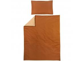Meyco dekbedovertrek + kussensloop  uni camel/warm sand 120x150 cm
