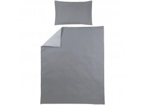 Meyco dekbedovertrek + kussensloop uni grijs/lichtgrijs 100x135 cm