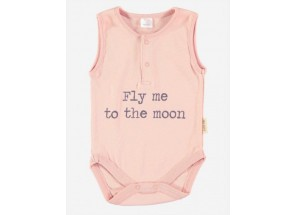Petit Oh! Romper patu rose fly me to the moon 6-9 m