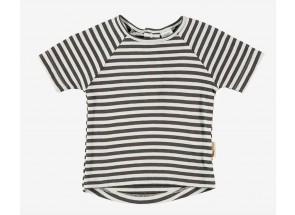 Petit Oh! t-shirt korte mouwen iron vanille  6-9 m