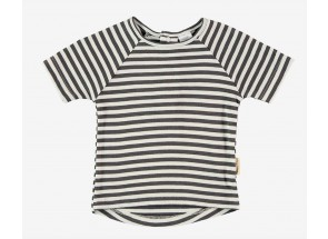 Petit Oh! t-shirt korte mouwen iron vanille 12-18 m