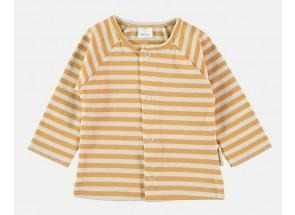 Petit Oh! t-shirt lange mouwen ambar vanille 3-6 m