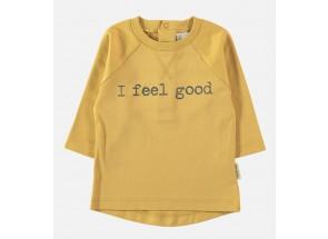 Petit Oh! t-shirt lange mouwen ambar feel good 6-9 m
