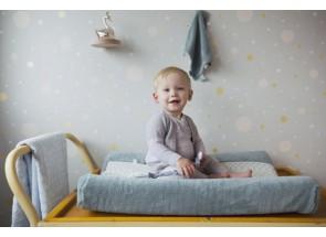 Snoozebaby Aankleedkussenhoes Gray Mist