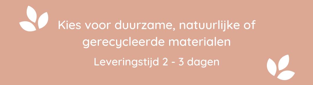 natuurlijke gerecycleerde materialen